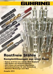 Rostfreie Stähle - Gühring oHG