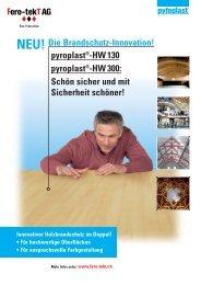 Flyer Holz - Fero-tekT AG