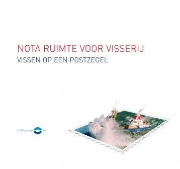 Nota ruimte voor visserij - vissen op een postzegel - Productschap vis