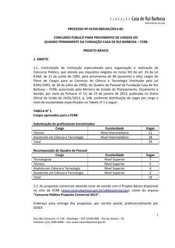 Proposta Comercial - Fundação Casa de Rui Barbosa