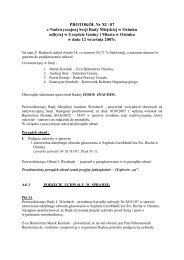 PROTOKÓŁ Nr XI / 07 z Nadzwyczajnej Sesji Rady Miejskiej w ...