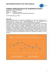 Indikator C2 Z2 Bildungschancen für ausländische Schüler