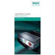 6 Hocheffizienz-Pumpe Wilo-Stratos ECO.