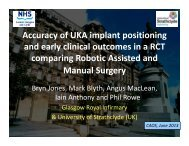 Accuracy of UKA implant positioning and early clinical outcomes in a ...