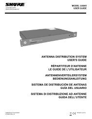 Shure UA845 User Guide (English)