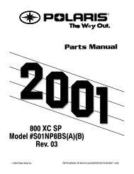 2001 XC800SP Parts Manual - Fairbanks Snow Travelers