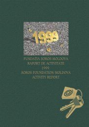 Raport de activitate 1999(PDF) - Soros Foundation Moldova