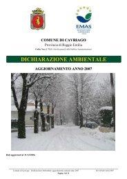 dichiarazione ambientale aggiornamento anno 2007 - Aicod