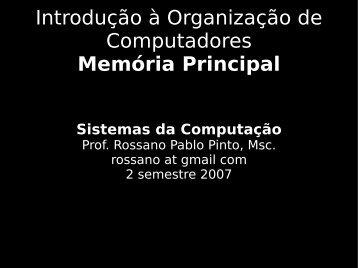 Introdução à Organização de Computadores ... - Rossano.pro.br