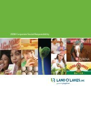 2008 Corporate Social Responsibility - Land O'Lakes Inc.