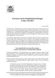 Lavorare con le Fondazioni in Europa: Come e Perché? - Acri