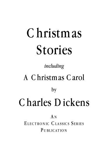 Charles Dickens' Christmas stories - Penn State University