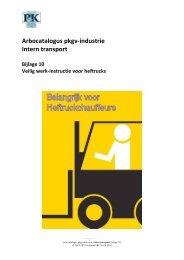 Arbocatalogus Intern transport, bijlage 10 - Verbond P&K