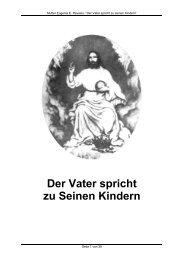Der Vater spricht zu Seinen Kindern - Gott ist die Liebe