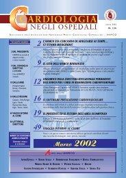 Cardiologia negli Ospedali n° 126 Marzo 2002 - Anmco