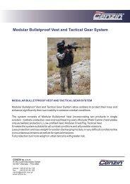 384. Modular Bulletproof Vest and Tactical Gear System - Cenzin