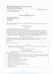 Návrh výroku územního rozhodnutí - Obec Hodonice
