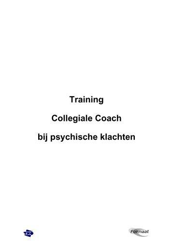 Training Collegiale Coach bij psychische klachten - NIP