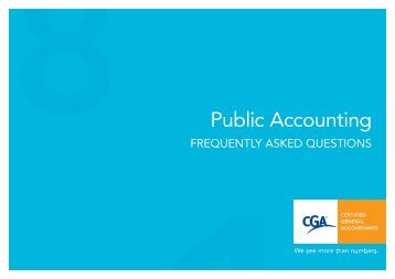 Public Accounting - Certified General Accountants of Ontario