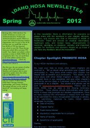 2012 Spring - Idaho Professional-Technical Education - Idaho.gov