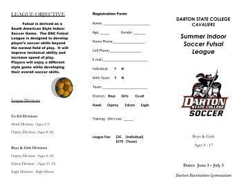 Summer Indoor Soccer Futsal League - Darton State College Athletics