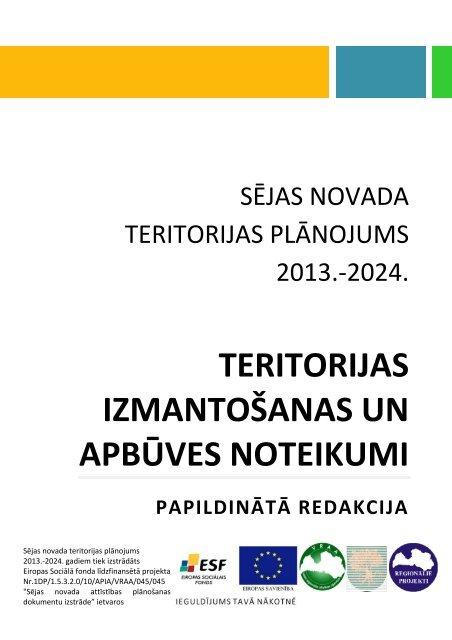 Teritorijas izmantošanas un apbūves noteikumi