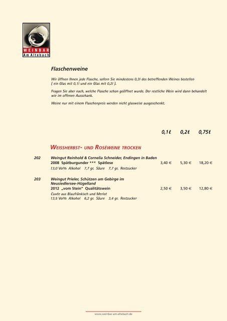 Roséweine Rotweine Rosé Rotweine - Weinbar am Altebach