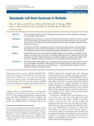 Hypoplastic Left Heart Syndrome Is Heritable - the Research Centre ...