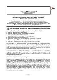 Zielplanung in der personenzentrierten Betreuung - Schlichthorster ...