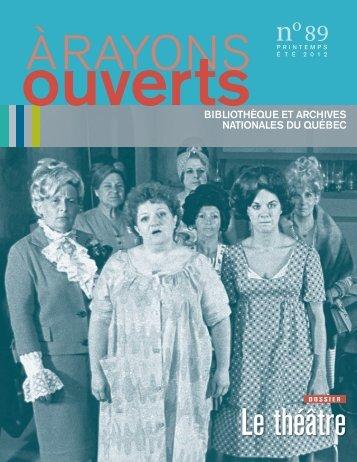 Le théâtre - Bibliothèque et Archives nationales du Québec