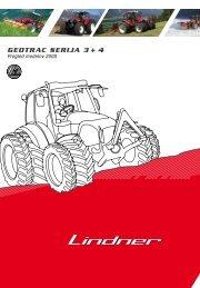 Geotrac serija 3 + 4 Pregled modelov 2008 - Lindner Traktoren