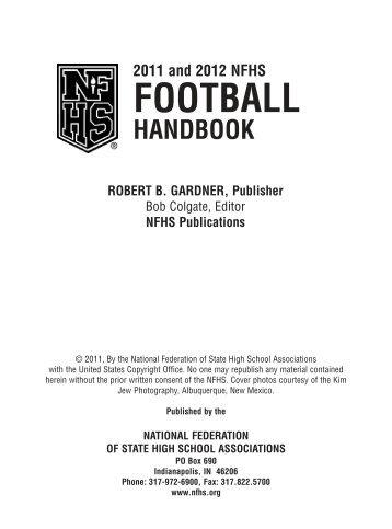 2013 nfhs test 2012 nfhs handbook burlington football officials association fandeluxe Gallery