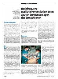 Hochfrequenzoszillationsventilation beim akuten Lungenversagen ...