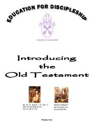 Introducing the Old Testament - Diocese of Gloucester