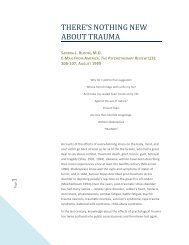 Bloom, S. L. (1999). There's Nothing New About Trauma. E-Mail ...