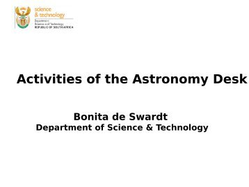 Activities of the Astronomy Desk