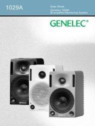 Genelec 1029A Bi-amplified Monitoring System Data Sheet