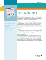 TAC Xenta 911 Access control controllers product datasheet