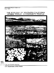 The Ecology of Southern California Vernal pools - USGS National ...
