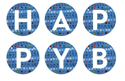 photo regarding Printable Happy Birthday Banner titled Kathys free of charge printable satisfied birthday banner (PDF)