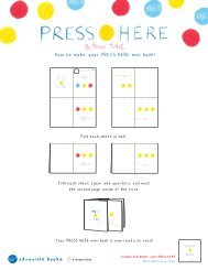 How to make your PRESS HERE mini book!Be a ... - Chronicle Books