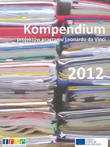 Kompendium projektów programu Leonardo da Vinci 2012