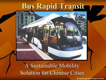Presentation - Bus Rapid Transit Policy Center
