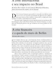A crise internacional e seu impacto no Brasil - SciELO