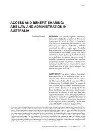 ACCESS AND BENEFIT SHARING: ABS LAW AND ... - Reid.org.br
