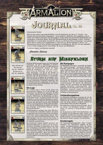 Sturm auf Misafelden - Armalion-Kompendium