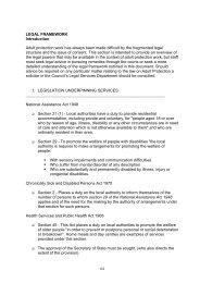 Legislative Framework for practitioners on intervention