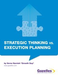 STRATEGIC THINKING VS. EXECUTION PLANNING - Gazelles