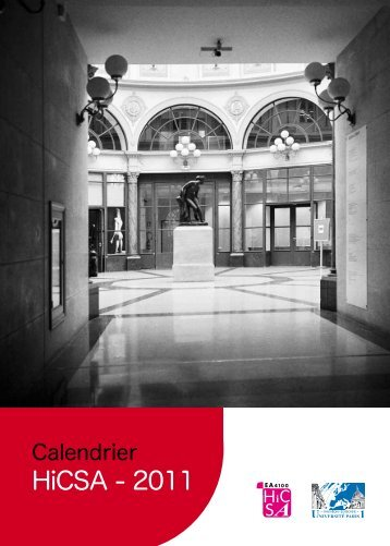 Calendrier des manifestations scientifiques 2011 - Université Paris 1 ...