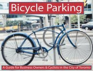 Bicycle Parking: A Guide for Business Owners ... - City of Toronto